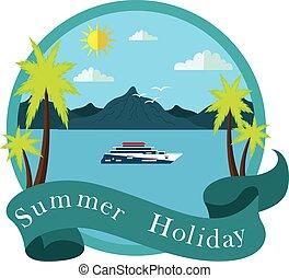 vacances, plage, mer