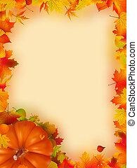 vacances, thanksgiving, frame.
