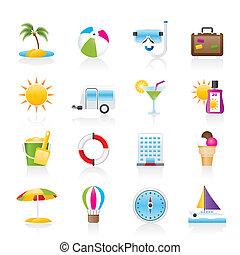 vacances, vacances, icônes