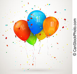 vacances, vecteur, balloons., illustration