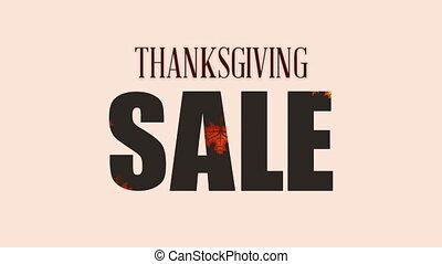 vacances, vente, automne, pousse feuilles, thanksgiving