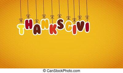 vacances, vente, pendre, lettres, thanksgiving