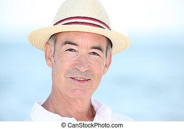 vacances, vieil homme