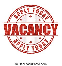 Vacancy grunge stamp - Vacancy grunge rubber stamp on white...