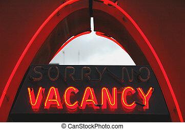 Vacancy sign on a motel
