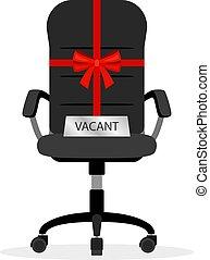 vacant, chaise bureau