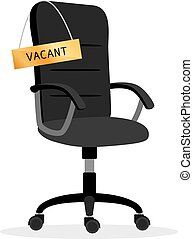 vacant, chaise, bureau