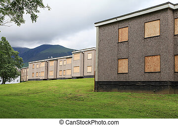 Vacant Derelict Housing - Housing. Vacant and derelict.