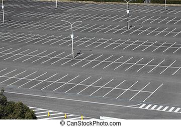 vacant, lot, stationnement