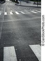 Vacant Main Street - An empty main street in Tel-Aviv at the...