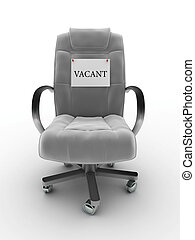Vacant seat - Office chair with vacant sign