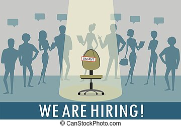 Vacant workplace,human resource recruitment concept,...