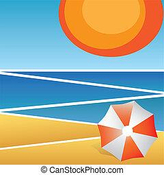 vacanza, astratto, fondo., spiaggia