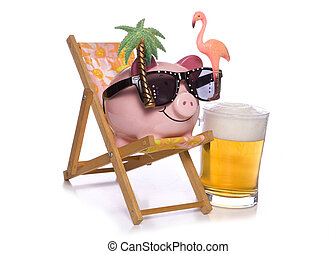 vacanza, banca piggy