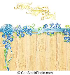 vacanza, cornice, fiori, nastro, arco