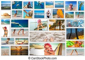 vacanza estate, collage
