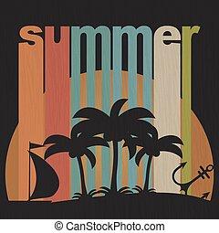 vacanza estate, grunge, fondo