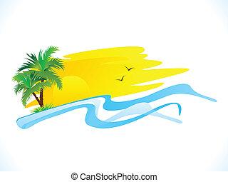 vacanza, festa, estate, astratto