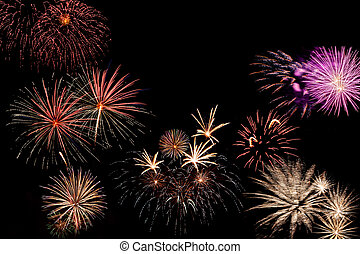 vacanza, fireworks, scheda