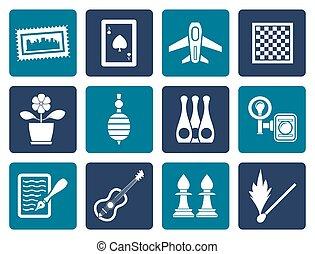 vacanza, oggetti, hobby, ozio