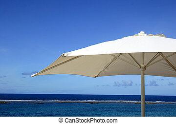 vacanza, ombrello
