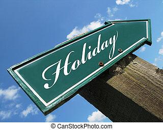 vacanza, segno strada