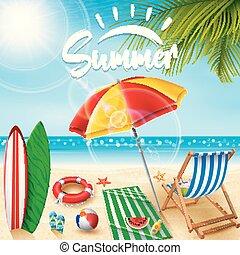 vacanze estate, fondo.