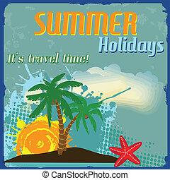 vacanze estate, manifesto
