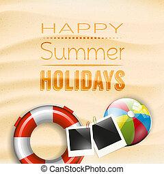 vacanze, estate, manifesto