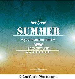 vacanze estate, vettore, fondo.