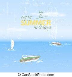 vacanze, fondo, estate