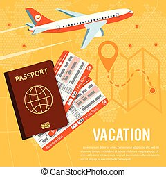 Vacation and Tourism Concept