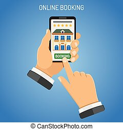 Online Booking Hotel - Vacation and Tourism Concept with ...
