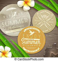 Vacation and travel emblems