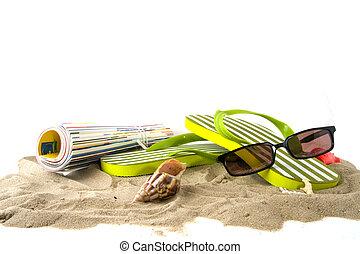 Vacation at the beach - vacation at the beach with magazine...