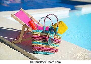 Vacation at the swimming pool