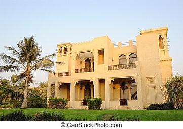 Vacation at villa in luxurious hotel, Dubai, UAE