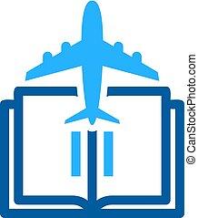 Vacation Book Logo Icon Design