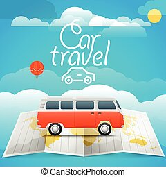 Vacation concept. Car travel