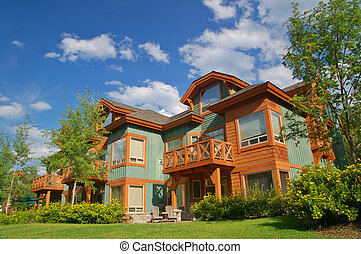 vacation condos at a ski resort in summer
