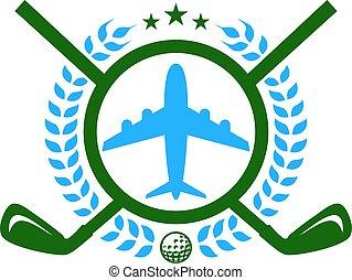 Vacation Golf Logo Icon Design
