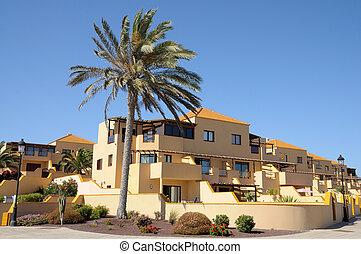 Vacation homes on Canary Island Fuerteventura, Spain