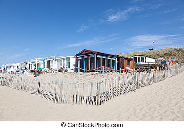 Vacation homes on the beach in Netherlands