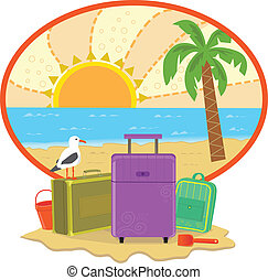Cute vacation icon. Eps10