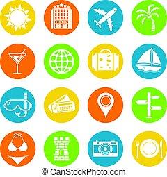 Vacation icons set