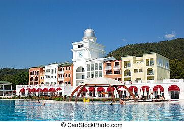 Vacation in modern mediterranean turkish hotel, Antalya, Turkey