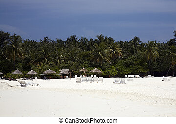 Vacation island - Beach of a holiday resort island in the...