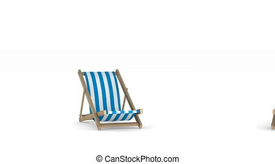 Vacation on white background. Isolated 3D render