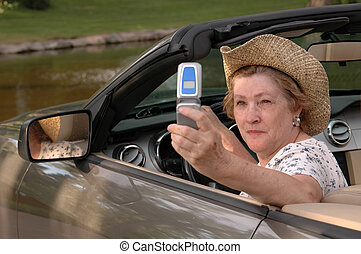 Vacation Pictures - A woman sending pictures of her vacation...