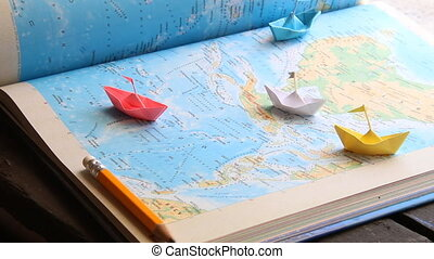 vacation planner idea - vacation planner concept , paper...